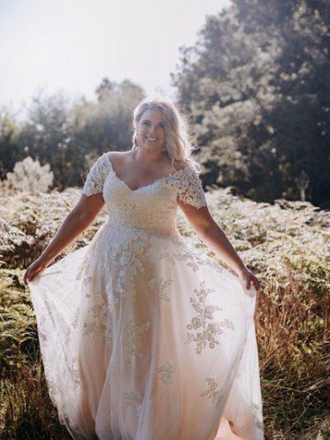 Aline plus size wedding