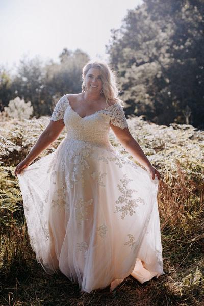Aline wedding dress plus size bridal gown