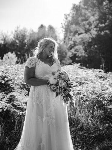 A-line skirt wedding dress