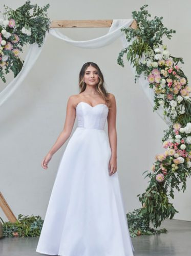 Mikado satin wedding dress