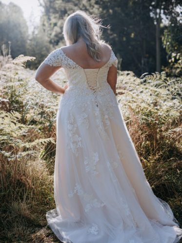 lace up the back aline bridal gown