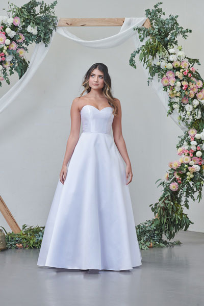 Satin deb and wedding dress