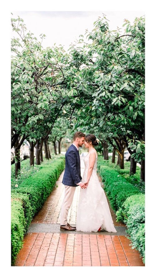 Real garden wedding