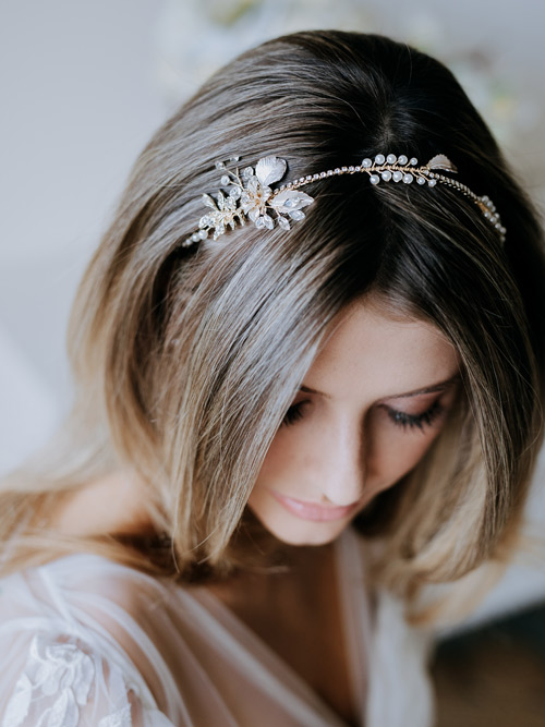 Simple bridal headbands