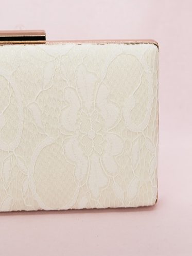 lace covered bag