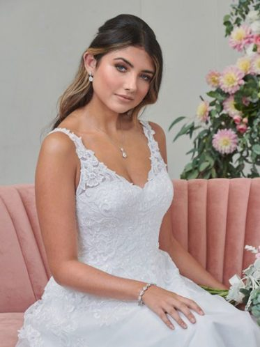 Casual wedding gown style with straps