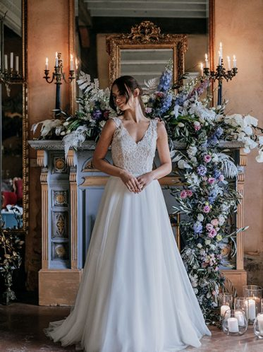 Simple and elegant dress for wedding