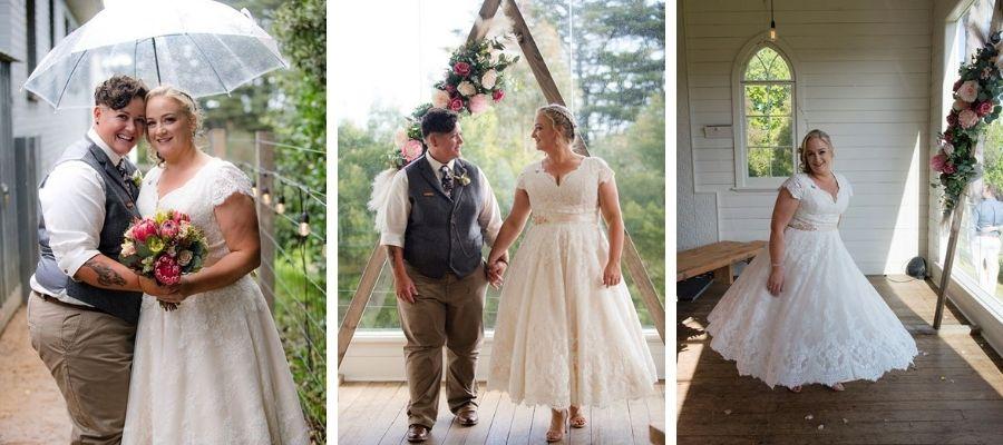 Ashley three quarter length wedding