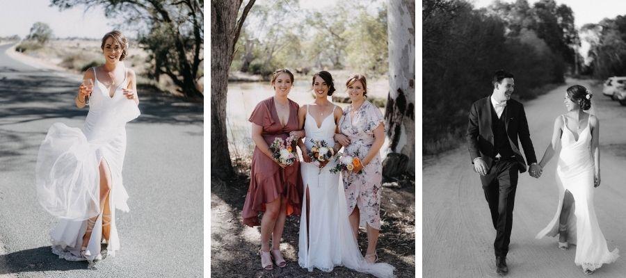 bohemian style real wedding