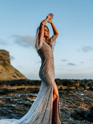Heavily embelished wedding dress Jolie