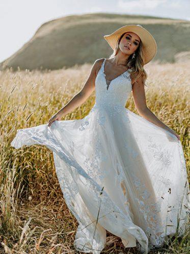 Ella romantic wedding dress
