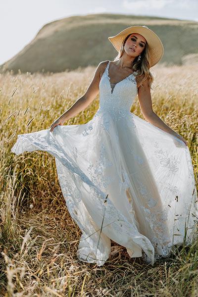 Ella romantic wedding dresses