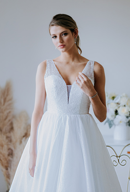 Shop debutante dresses with beads