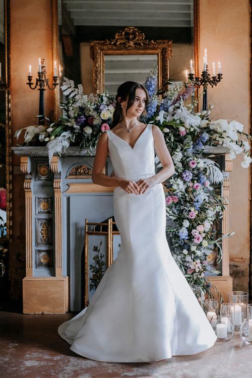Satin bridal dress Harlow bridal gown