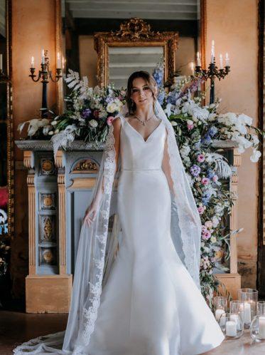 Satin mermaid wedding dress