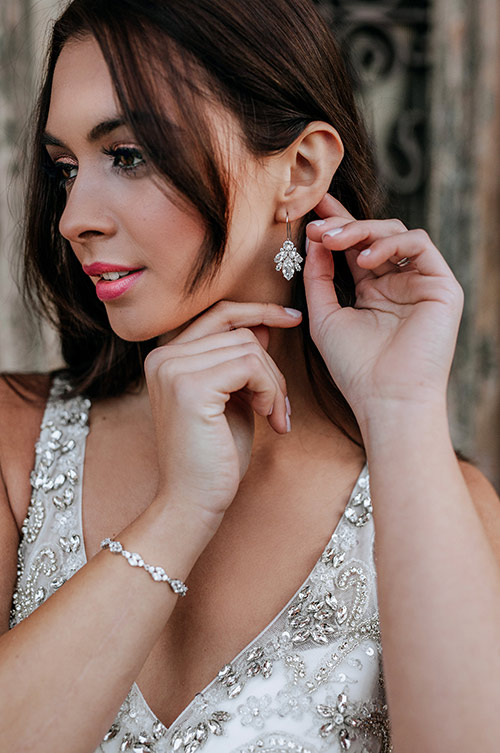 match your earrings to your dress