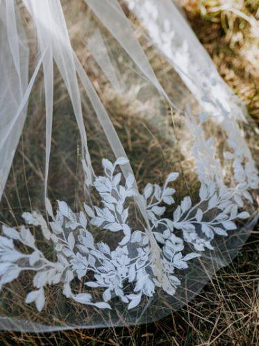 Garden wedding dress veils