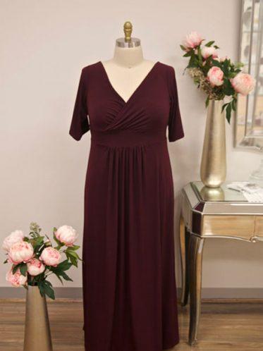 Long sleeve bridesmaid dress