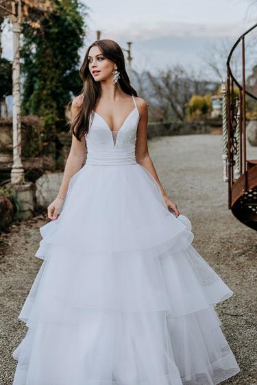 Harriet wedding dresses with no train