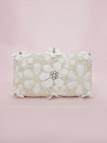 Unique pearl clutch bag