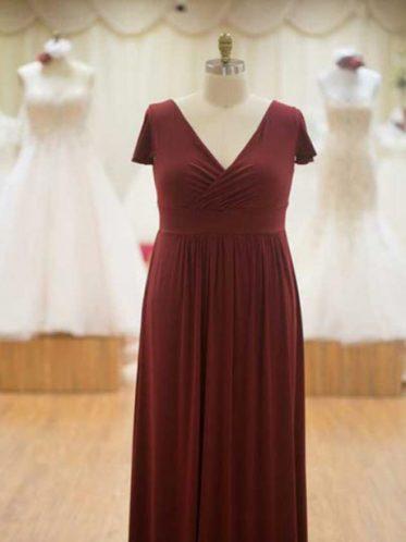 Short sleeve bridesmaid dress