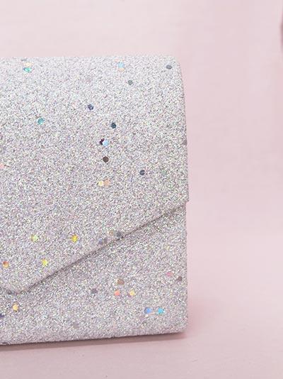 Sparkling envelope style bag