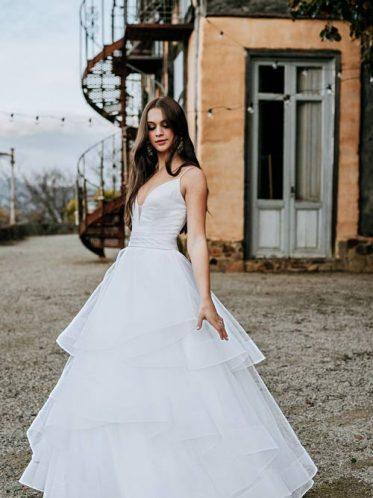 No train wedding dress Harriet